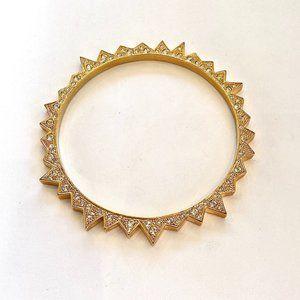 CC Skye Gold Tone Bracelet w/ CZ studs